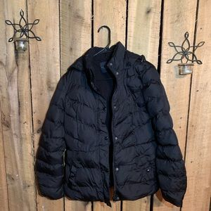 Faded Glory Puffer Jacket with Removable Hood
